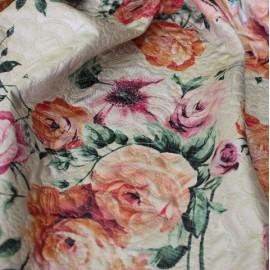 Жакард  Dolce & Gabbana рози бежов фон