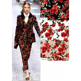 Коприна Dolce&Gabbana ситни рози бледо розова