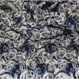Жакард  Dolce & Gabbana с рози сини