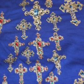 Трико щампа versace кралско синьо