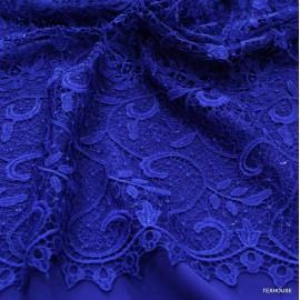 Дантела кралско синя- брюкселска