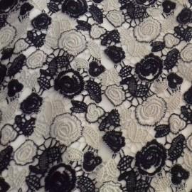 Дантела ситни цветчетa сиво -синя